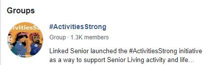 ActivitiesStrong Facebook Group