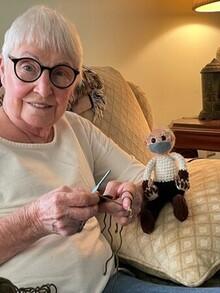Patricia Wade - Knitted Bernie Sanders